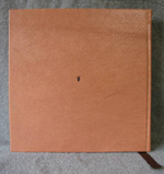 tan leather oak tree anniversary journal back cover
