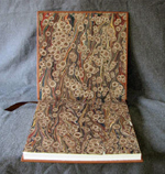 tan leather oak tree anniversary journal marbled endpapers