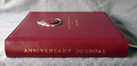 red leather indian style anniversary journal spine