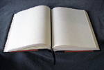 custom leather architectural church door retirement book open pages