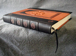 custom leather architectural church door retirement book spine