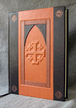 custom leather architectural church door retirement book front cover