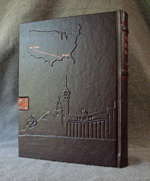 Las Vegas Nevada burgundy leather journal copper closure back