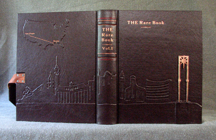Las Vegas Nevada burgundy leather journal whole cover