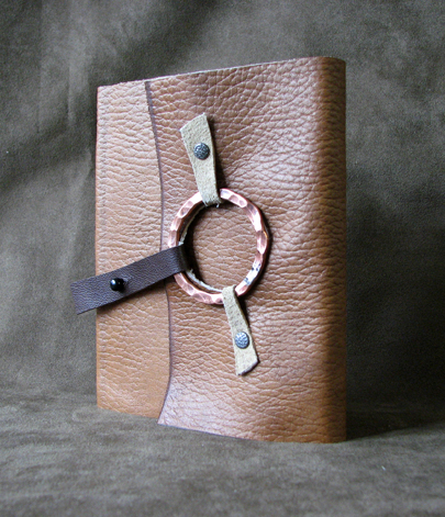 rustic flex cover with metal ring 1 journal softcover leather