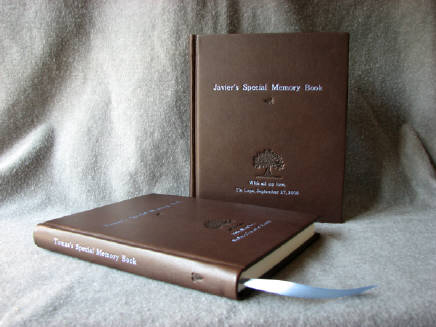 custom goatskin leather baby memory books for twins