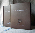 dark brown leather baby brothers journals front covers