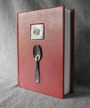 burgundy leather ice cream journal