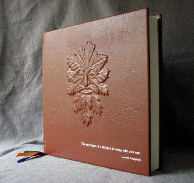 custom leather green man book of shadows