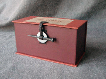 antique hardware presentation box with square nail closure