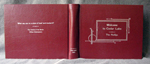 custom red leather cookbook with art deco design whole cover