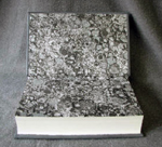 custom gray leather rebinding or ayn rand the fountainhead marbled endpapers