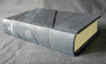 custom gray leather rebinding or ayn rand the fountainhead flat