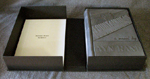 custom gray leather rebinding or ayn rand the fountainhead custom clamshell box flat open