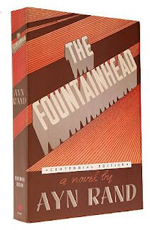 custom gray leather rebinding or ayn rand the fountainhead original cover art