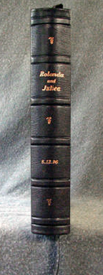 three quarter binding engagement ring book spine