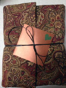 three quarter binding engagement book cloth outer wrap made by customer