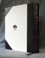 three quarter binding engagement ring book back cover