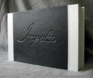 supernatural impala 1967 chevy blank book leather journal diary autograph book clamshell box front