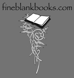 fine blank books logo gray book and fern