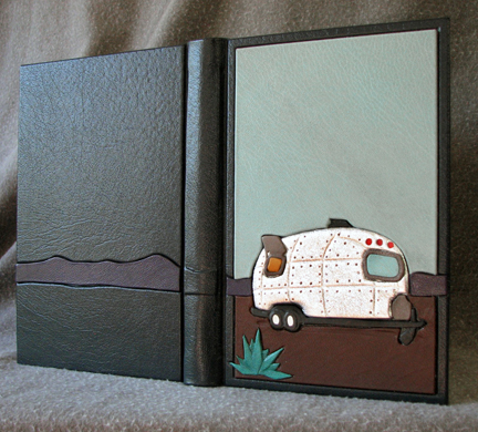 vintage camper leather journal airstream retro yucca travel