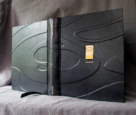 custom black leather golf course topographic guest book