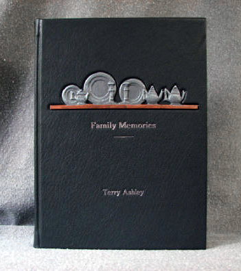 custom memoir book for antique pewter collector