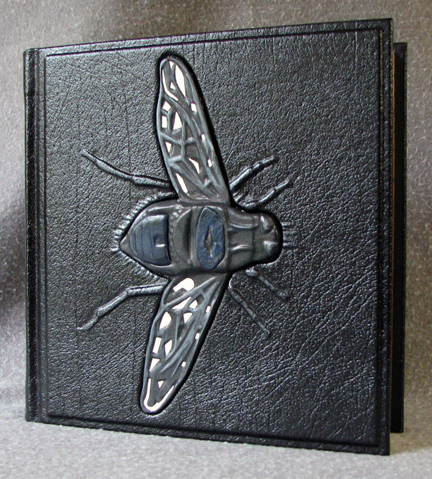 custom book with fly leather handmade esoterra