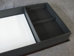 custom book with fly leather handmade esoterra clamshell box empty