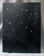 custom leather TARDIS box back cover with stars