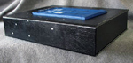 custom leather TARDIS box spine