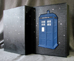 custom leather TARDIS box whole cover