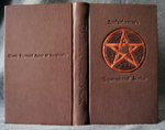 custom leather supernatural fan fiction binding with devils trap whole cover