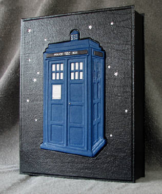 custom leather TARDIS box
