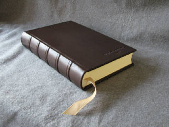 custom chocolate brown goatskin leather brother journal with raised cords