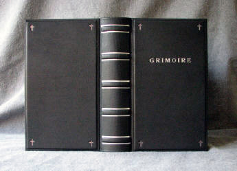 custom black leather gothic style journal grimoire