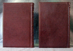 goatskin leather baptism record book back cover