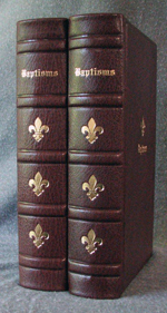 goatskin leather baptism record book spines
