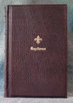 goatskin leather baptism record book front cover