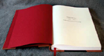 traditional red quarter binding in leather and cloth title page