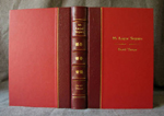 traditional red quarter binding in leather and cloth whole cover