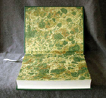 traditional green goatskin leather journal endpaper