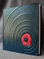 custom leather poppy blossom on the water album front cover